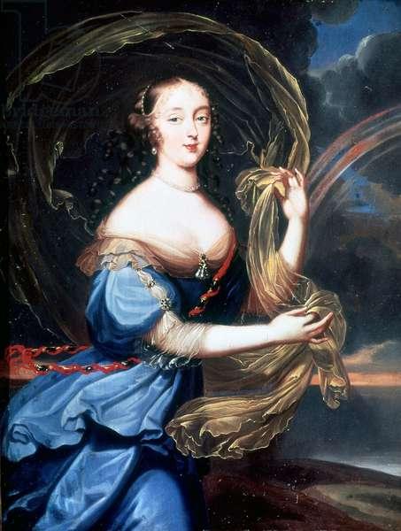 Portrait of Francoise Athenais (Francoise-Athenais) by Rochechouart Mortemart, Marquise de Montespan (or Madame de Montespan) (1640-1707).