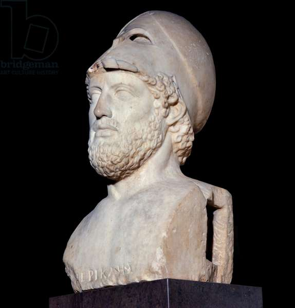 Bust of Pericles (495 BC - 429 BC), old copy of Cresile 440/430 (sculpture)