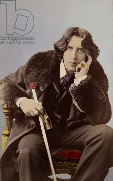 Portrait of Oscar Wilde (1854 - 1900) around 1882 by Napoleon Sarony (1821 - 1896).