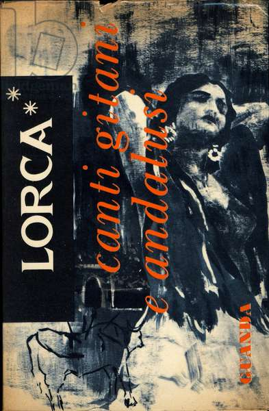 "Cover of """" Canti gitani e andalusi"""" (Gypsy and Andalusian songs) by Spanish playwright and poet Federico Garcia Lorca (1883-1936) 20th century"
