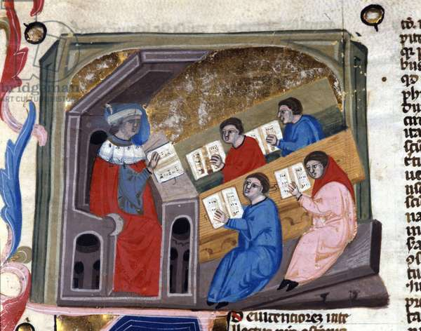 University. 14th century manuscript. biblioteca Nazionale Braidense. Milan