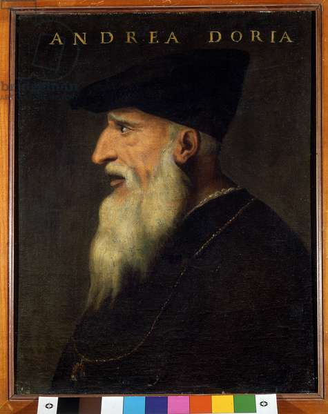 Portrait of Andrea Doria (1466-1560), Italian warman. Anonymous painting. Roma Galleria Doria Pamphili.