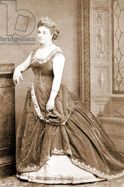 """Delphine Ugalde in """"The Great Duchess of Gerolstein"""" by J. Offenbach. Paris 1869"""