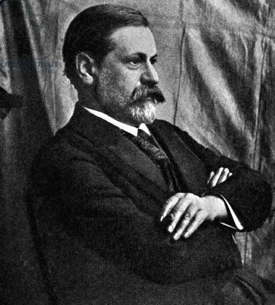 Portrait of Sigmund Freud (1856 - 1939) in the early 1910's.