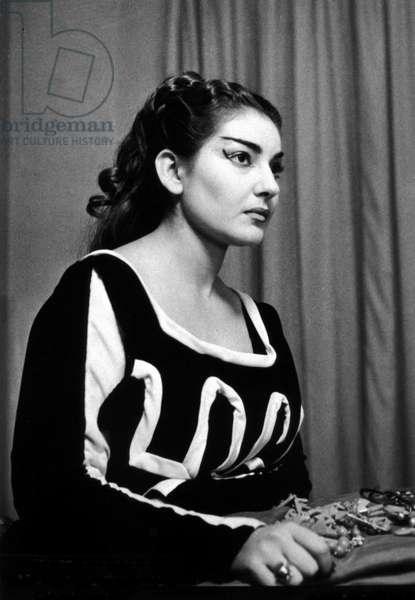 """Maria Callas in """""""" Medea"""""""" by Cherubini at the teatro alla Scala in Milan in 1953."""