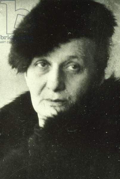 Portrait of the Russian poet Anna Akhmatova (Achmatova) (1889-1966).