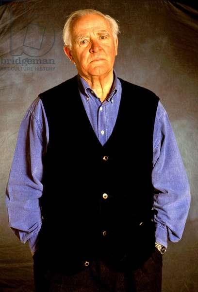 Portrait of the British writer John Le Carre (born 1931).