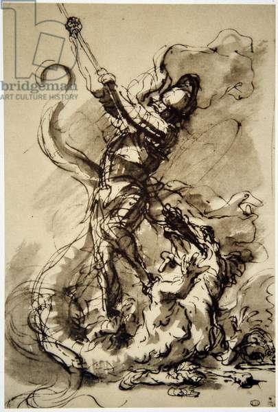 Salvator (Salvatore) Rosa (1615-1673): Saint George and the Dragon