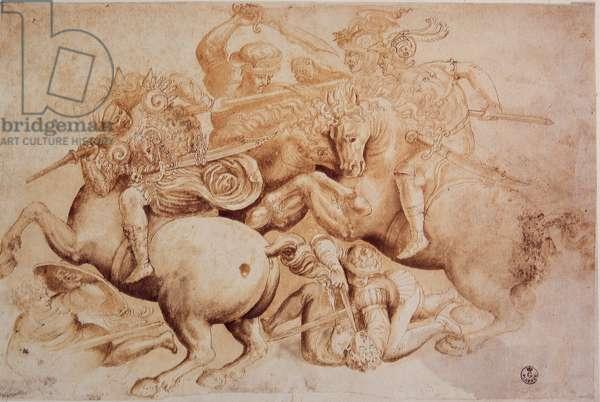 Leonardo da Vinci (Leonardo da Vinci) (1452 - 1519): Copy of the Battle of Anghiari (June 29, 1440)