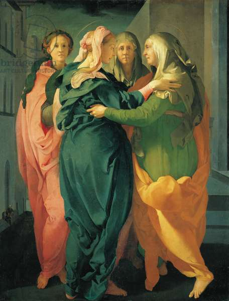 The Visitation, Painting by Jacopo (Iacopo) Carrucci dit il Pontormo (Pontormo) (1494-1557), circa 1528, Church of San Michele, Carmignano (Prato)