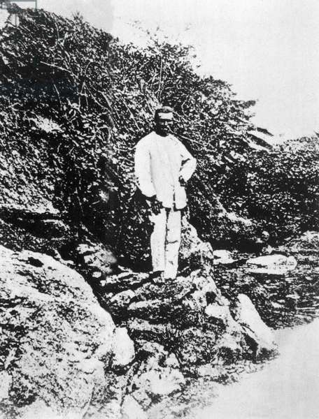 Portrait of the French poet ARTHUR RIMBAUD (1854-1891) at Harar in Ethiopia in 1883