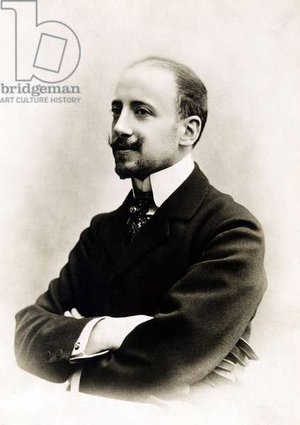 Portrait of the Italian poet and politician GABRIELE D'ANNUNZIO (1863-1938), circa 1900