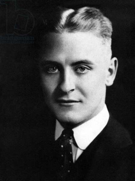 Portrait of the American Writer Francis Scott Fitzgerald (1896-1940) circa 1918