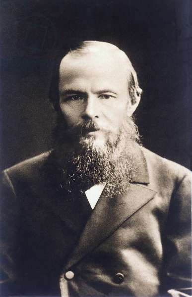 Portrait of the Russian writer Fedor Dostoievsky (Dostoevsky or Dostoevskij) (1821-1881) around 1870.
