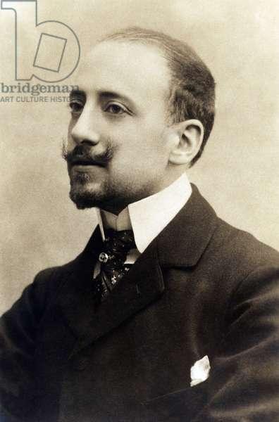 Portrait of the Italian poet and politician GABRIELE D'ANNUNZIO (1863-1938), circa 1900