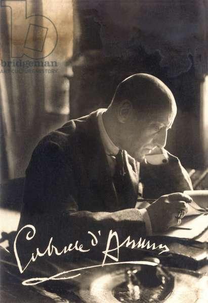 Portrait of the Italian poet and politician GABRIELE D'ANNUNZIO (1863-1938), ca. 1921