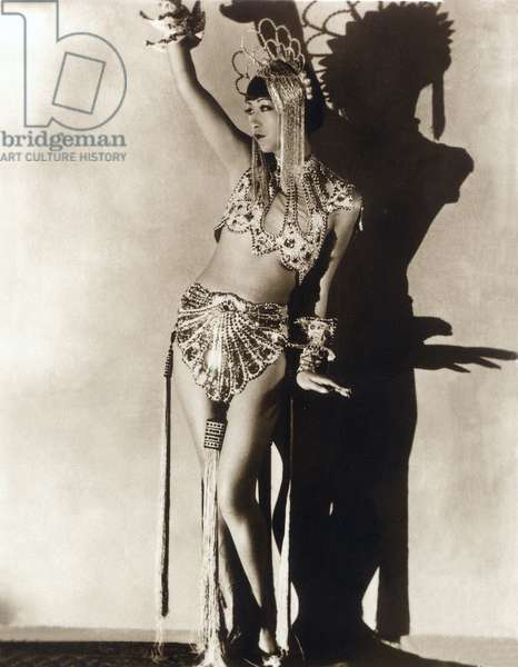 Portrait of actress Anna May Wong in cabaret dancer costume, 1920s