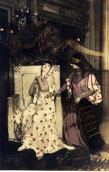 "Comedian SARAH BERNHARDT (1844-1923) interpreting Aricie in """" Phedre"""" by Jean Racine"