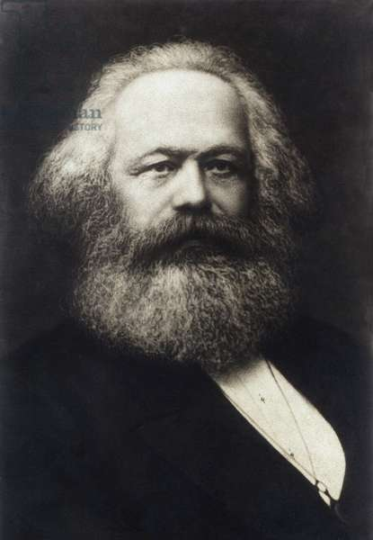 The German philosopher, economist and politician Karl Marx (1818-1883) circa 1878