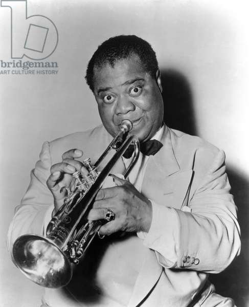 Portrait of American jazz trumpeter Louis ARMSTRONG (1901-1971)