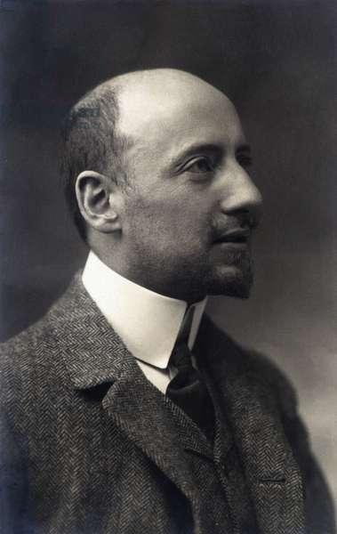 Portrait of the Italian poet and politician GABRIELE D'ANNUNZIO (1863-1938), ca. 1906