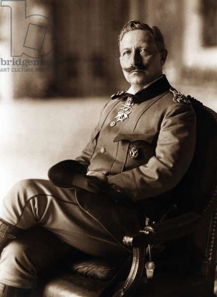 Portrait of the German Emperor and King of Prussia William II (Frederic Guillaume Victor Albert of Hohenzollern) (Wilhelm) in 1910 in Potsdam Germany