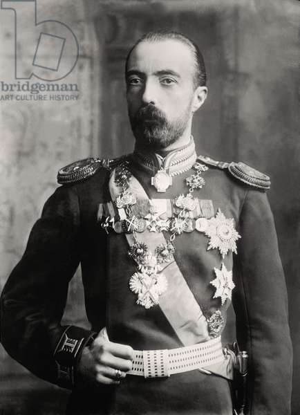 Portrait of Michael Alexandrovich Romanov, Grand Duke of Russia (1878-1918), 1918