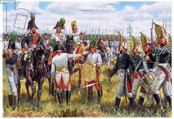 First empire: Austro-Russian staff of the Third Coalition in 1805 - First empire: general Staff Austro-Russian in 1805 - Illustration by Giuseppe Rava