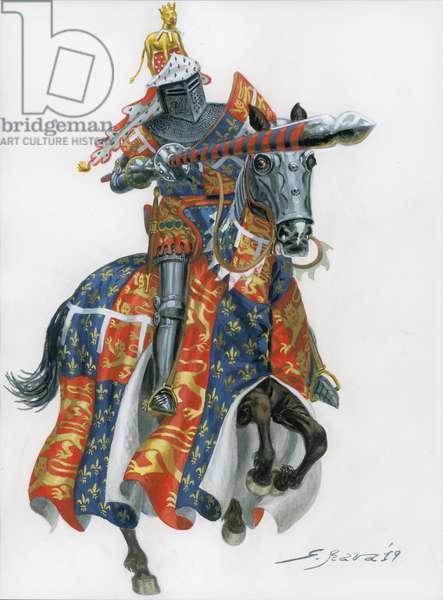 The Black Prince (Edward of Woodstock, Edward Plantagenet or Edward the Black, 1330-76)