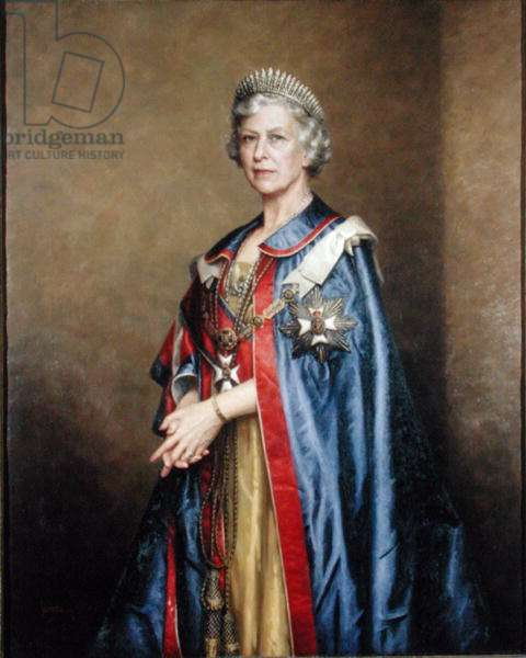 HRH The Princess Royal (b.1901) 1958 (oil on canvas)