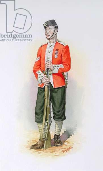 Naik, 1st Gurkha Regiment c.1876, 1989 (w/c on paper)