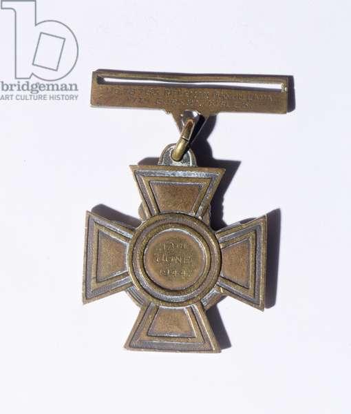 Victoria Cross of Captain Ganju Lama VC, MM (1924-99) 1944 (bronze) (reverse)