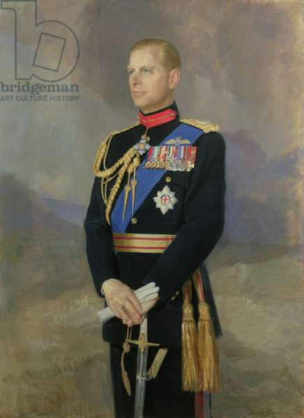 HRH The Prince Philip (b.1921) 1952 (oil on canvas)