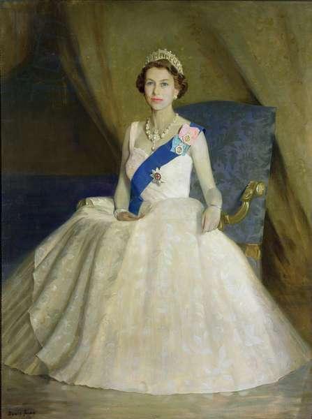 Her Majesty Queen Elizabeth II (b.1926) 1959 (oil on canvas)