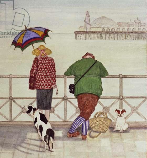 Brighton Pier, 1986 (watercolour on paper)