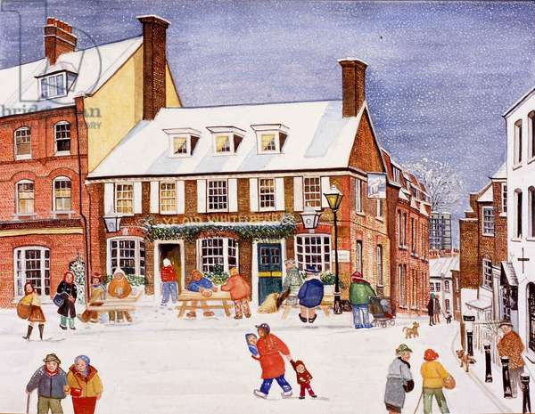 The White Bear, Hampstead, 1990 (watercolour on paper)