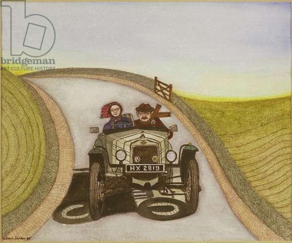 Motorcar, 1985 (watercolour on paper)