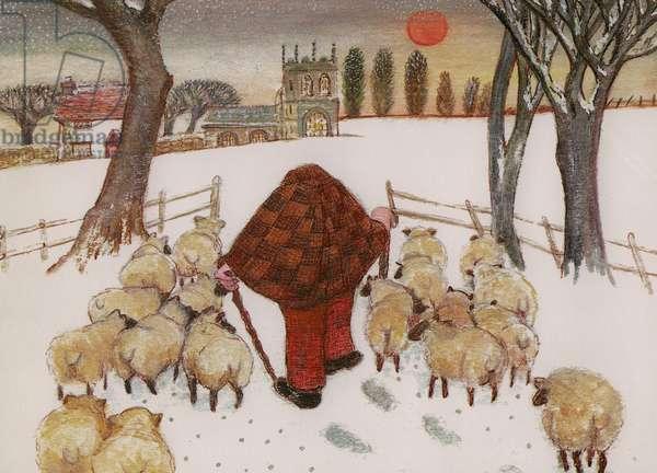The Shepherd Returns, 1985 (w/c on paper)