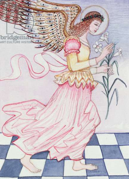 Angel with tiger lily, 1995 (w/c)