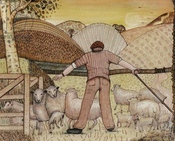 Shepherd, 1985 (w/c on paper)