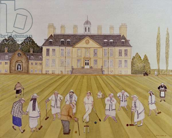 Croquet on the Lawn, 1989 (watercolour on paper)