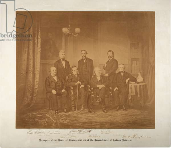 Managers of the House of Representatives of the impeachment, 1868 (sepia photo)