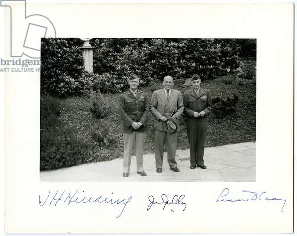 Photograph at 1945 Potsdam Conference, 1945 (b/w photo)