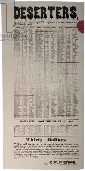 Deserters, 1863 (litho)