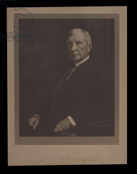 Portrait photograph of John D. Rockefeller, c.1912 (b/w photo)