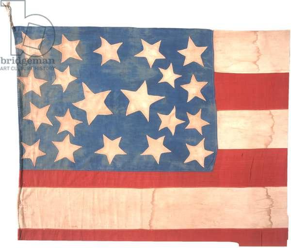 "Twenty Star American ""Abolitionist Flag"", c.1859 (textile flag)"