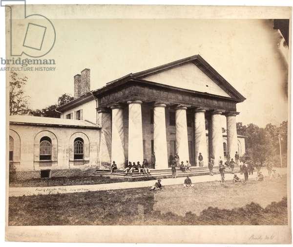 Front of Arlington House, 28 June 1864 (sepia photo)
