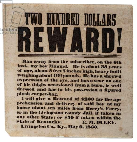 Reward!, 9th May 1860 (litho)