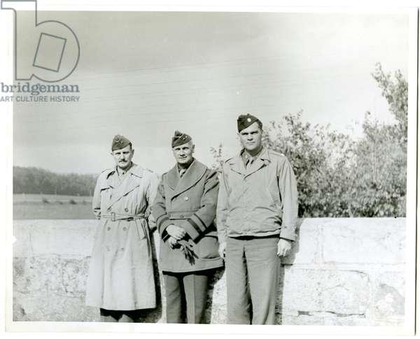Portrait in uniform, 1945 (b/w photo)