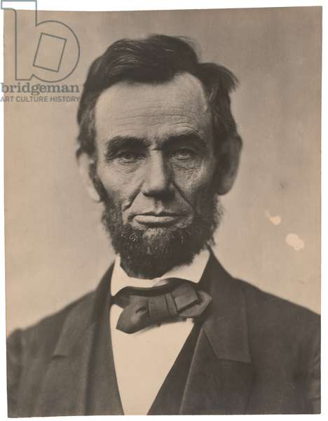 Portrait of Abraham Lincoln, November 1863, printed c.1910 (sepia photo)